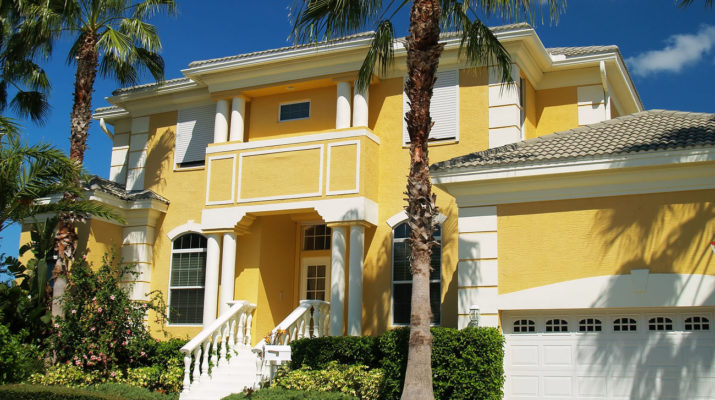 Фасад, созданный в желтом цвете