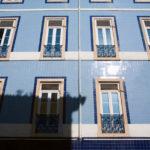 Фасад в голубом цвете