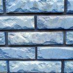 Фасадная плитка голубого цвета
