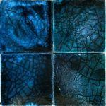 Фасадная плитка майолика в голубом оформлении