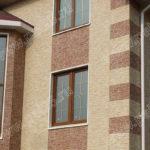 Фасадные современные панели коричневого цвета