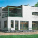 Использование фасада с плоской крышей