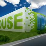 Как необычно использовать зеленые фасадные панели