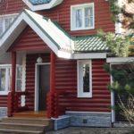 Как подобрать красивый бордовый фасад