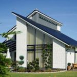 Как создать фасад с односкатной крышей