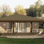 Как выглядит фасад с современной террасой