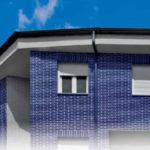 Клинкерная голубая плитка для фасада