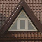 Конструкция треугольных окон на фасаде здания