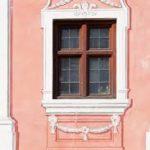 Красивый фасад в розовом цвете