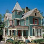 Красивый фасад зеленого цвета