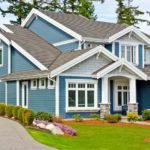 Красивый синий фасад для дома