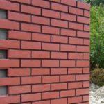 Красные красивые панели для фасада под кирпич