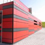 Красные панели для фасада