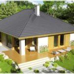 Крыша трехскатная для оформления фасада