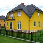Насыщенный желтый фасад