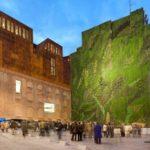 Необычные зеленые панели для фасада