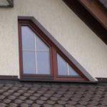 Нестандартные треугольные окна для фасада частного дома