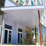 Нежные голубые панели для фасада