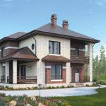 Облицовка дома коричневым фасадом