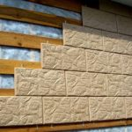 Облицовочная плитка для фасада бежевого цвета