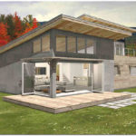 Оформляем фасад с односкатной крышей
