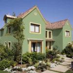 Оливковый цвет современного фасада