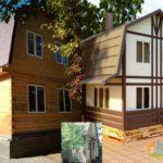 Оранжевые фасадные панели для обустройства дома