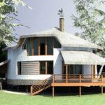 Оригинальный дом круглой формы