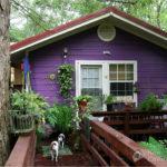 Оригинальный фиолетовый фасад