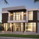 Плоская крыша положительно влияет на фасад дома
