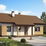 Практичная двухскатная крыша для оформления фасада здания
