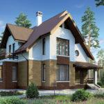 Пример коричневого фасада