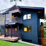 Пример красивого синего фасада