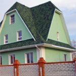 Пример красивого зеленого фасада