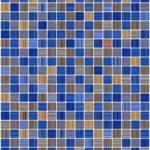 Пример плитки голубого цвета для оформления фасада