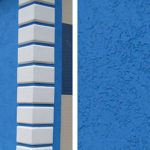 Привлекательный внешний вид синего фасада