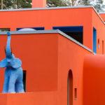 Приятный оранжевый оттенок фасада