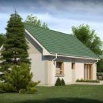 Проект фасада с двухскатной крышей
