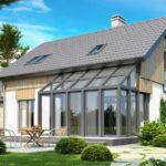 Проект современного фасада с красивой террасой