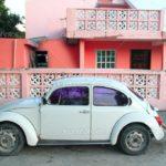 Розовый цвет современного фасада