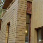 Современный фасад на основе дерева безопасный