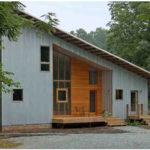 Современный фасад с односкатной практичной крышей