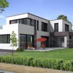 Современный фасад с плоской крышей