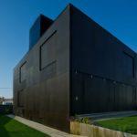 Современный стиль фасада с применением черных панелей