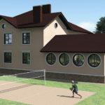 Создаем фасад с крулыми окнами