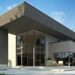 Стильное оформление фасада с плоской крышей