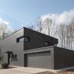 Светлый оттенок черного фасада