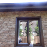 Светлый оттенок коричневых панелей для фасада