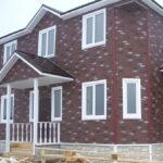 Темные коричневые современные панели для обустройства фасада