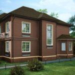 Темный коричневый фасад для дома